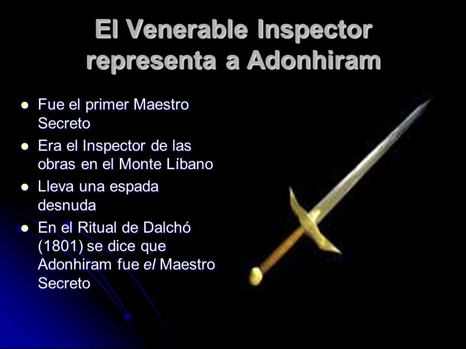 El Venerable Inspector representa a Adonhiram