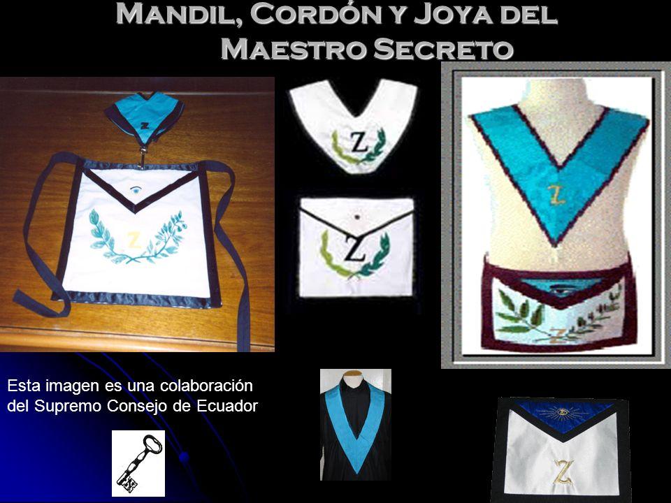 Mandil, Cordón y Joya del Maestro Secreto