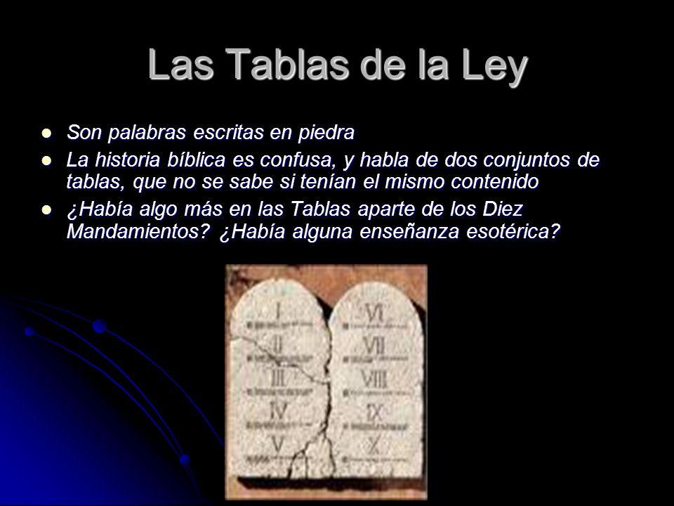 Las Tablas de la Ley Son palabras escritas en piedra