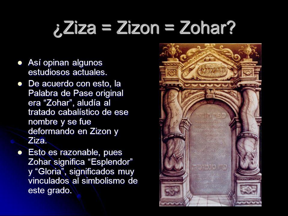 ¿Ziza = Zizon = Zohar Así opinan algunos estudiosos actuales.