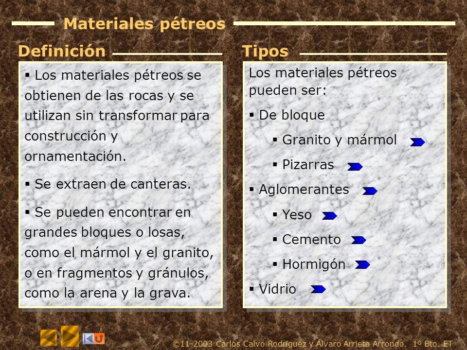 Materiales p treos obtenci n caracter sticas y for Definicion de marmol