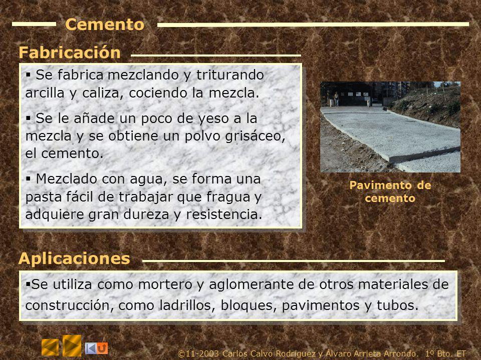 Cemento Fabricación Aplicaciones