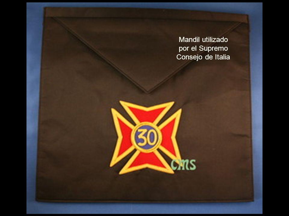 Mandil utilizado por el Supremo Consejo de Italia