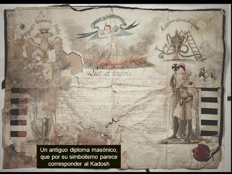 Un antiguo diploma masónico, que por su simbolismo parece