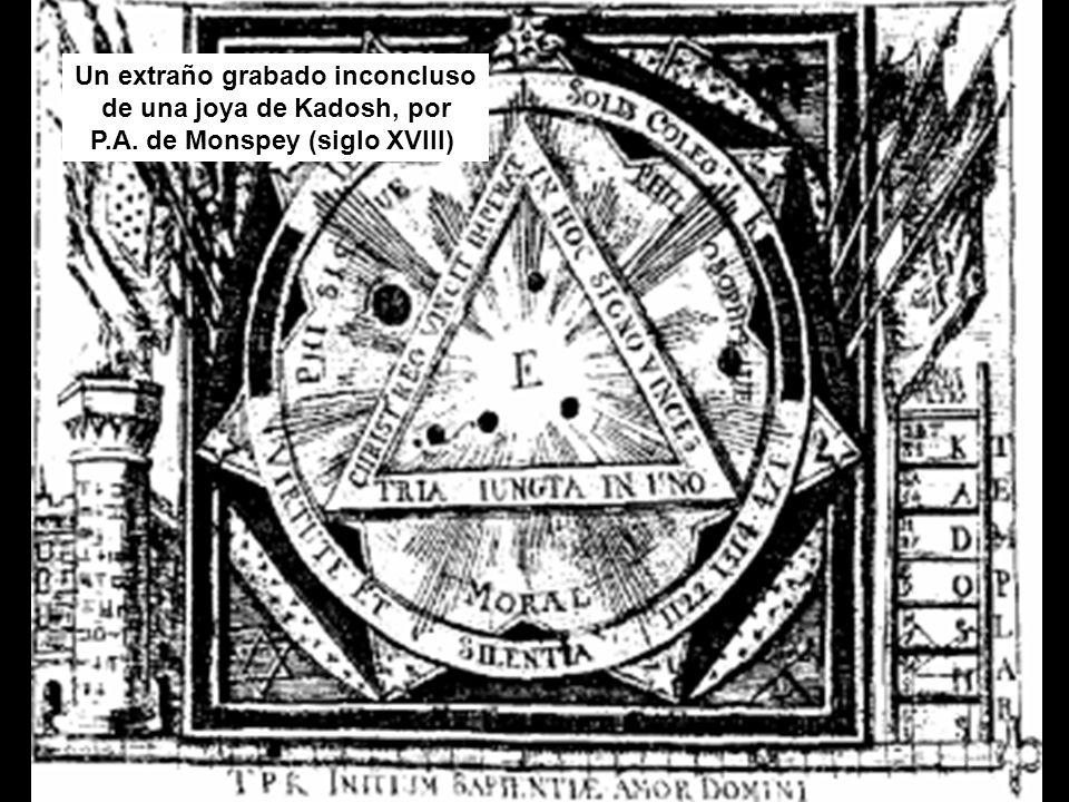 Un extraño grabado inconcluso de una joya de Kadosh, por