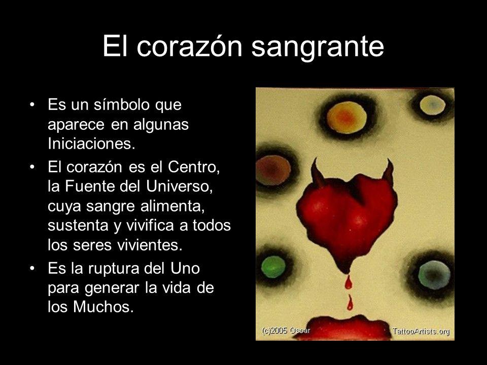 El corazón sangrante Es un símbolo que aparece en algunas Iniciaciones.