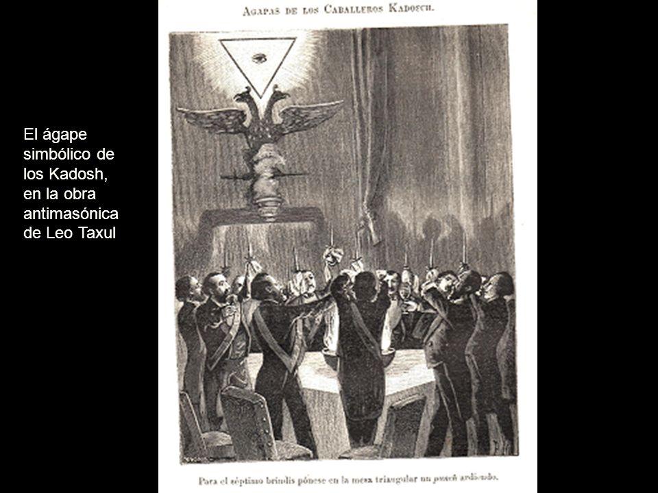 El ágape simbólico de los Kadosh, en la obra antimasónica de Leo Taxul