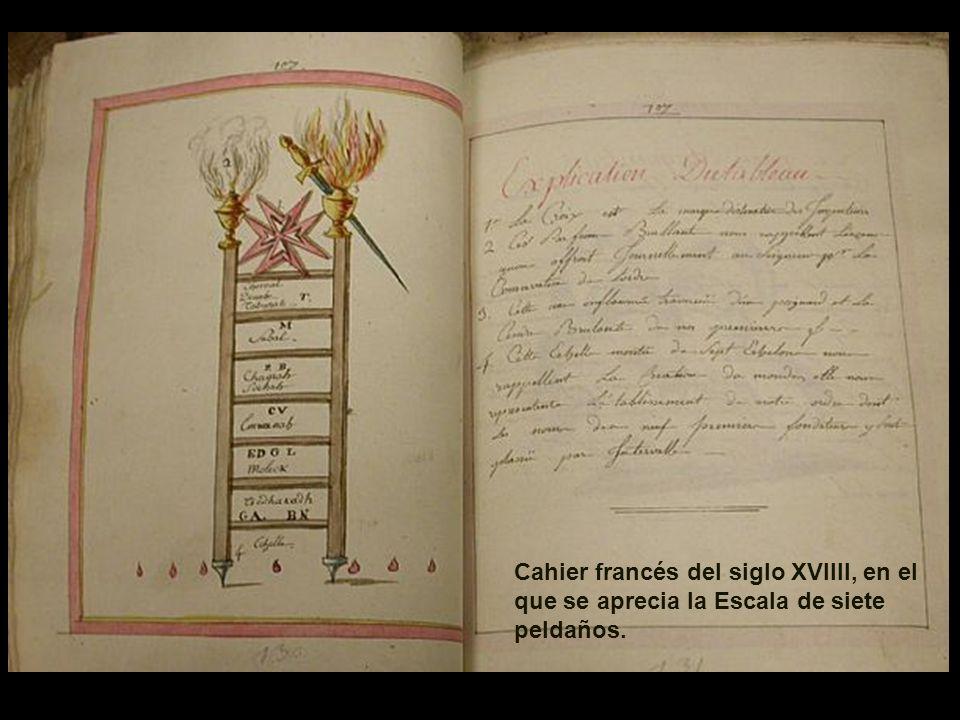 Cahier francés del siglo XVIIII, en el