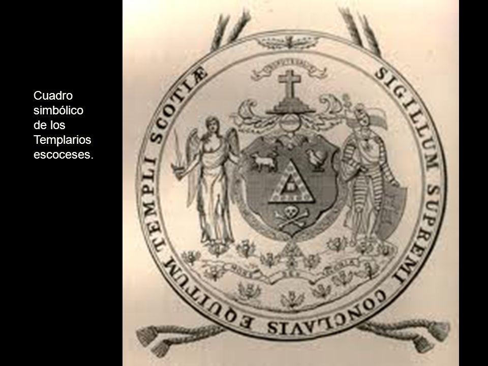 Cuadro simbólico de los Templarios escoceses.
