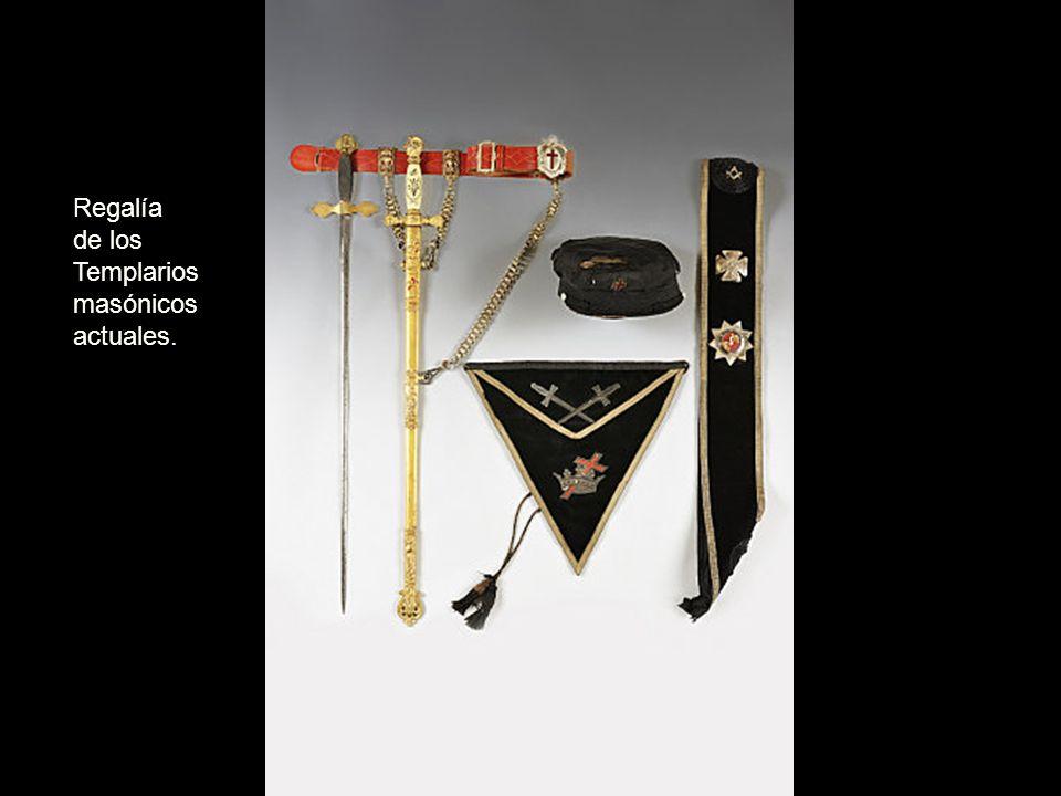 Regalía de los Templarios masónicos actuales.