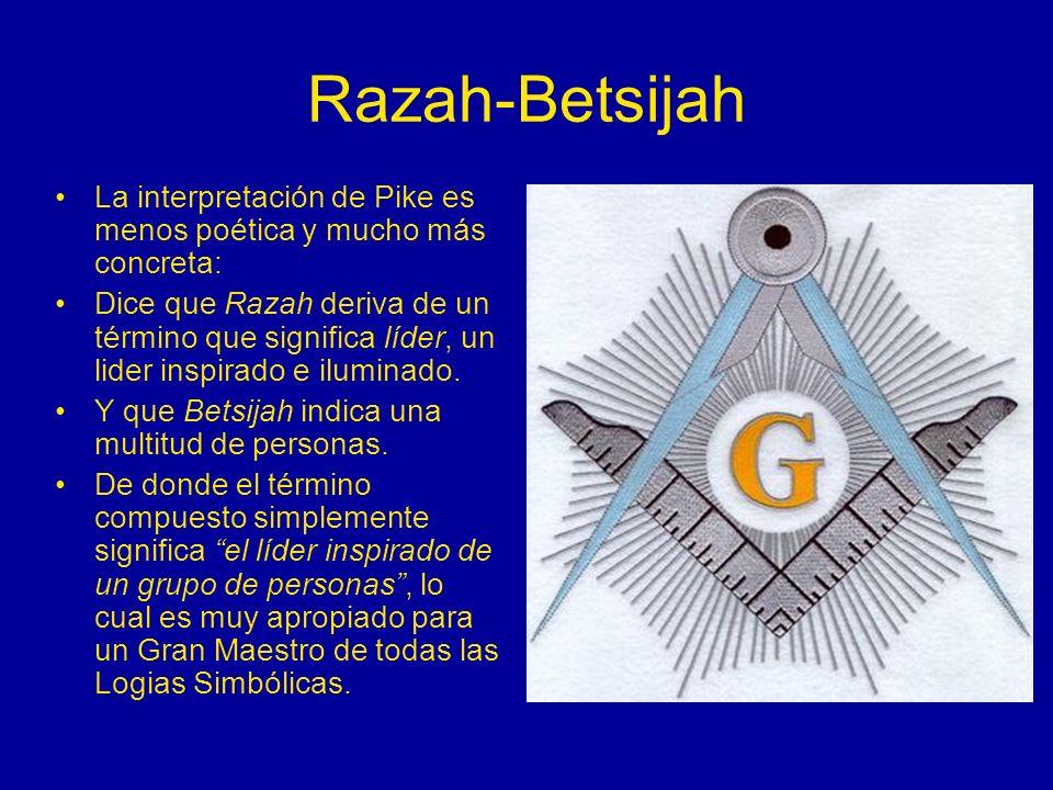 Razah-BetsijahLa interpretación de Pike es menos poética y mucho más concreta: