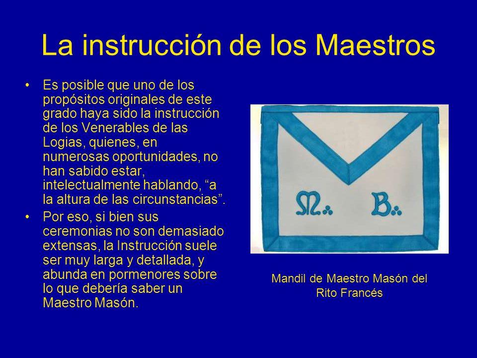 La instrucción de los Maestros