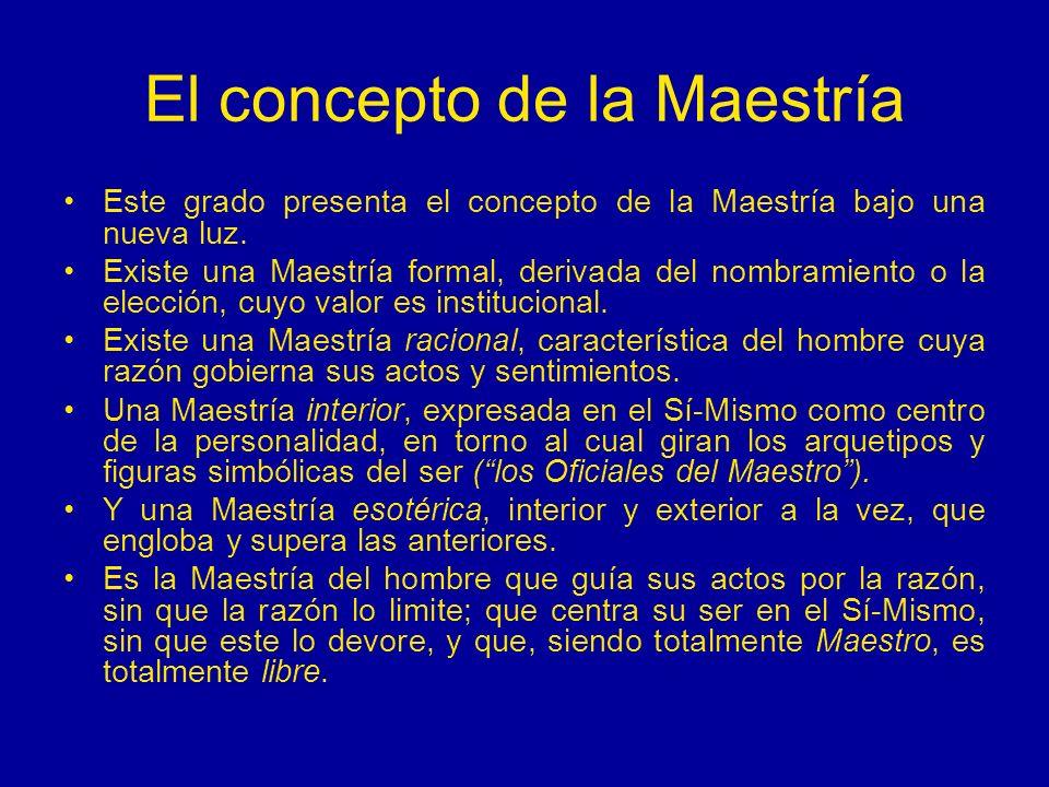 El concepto de la Maestría