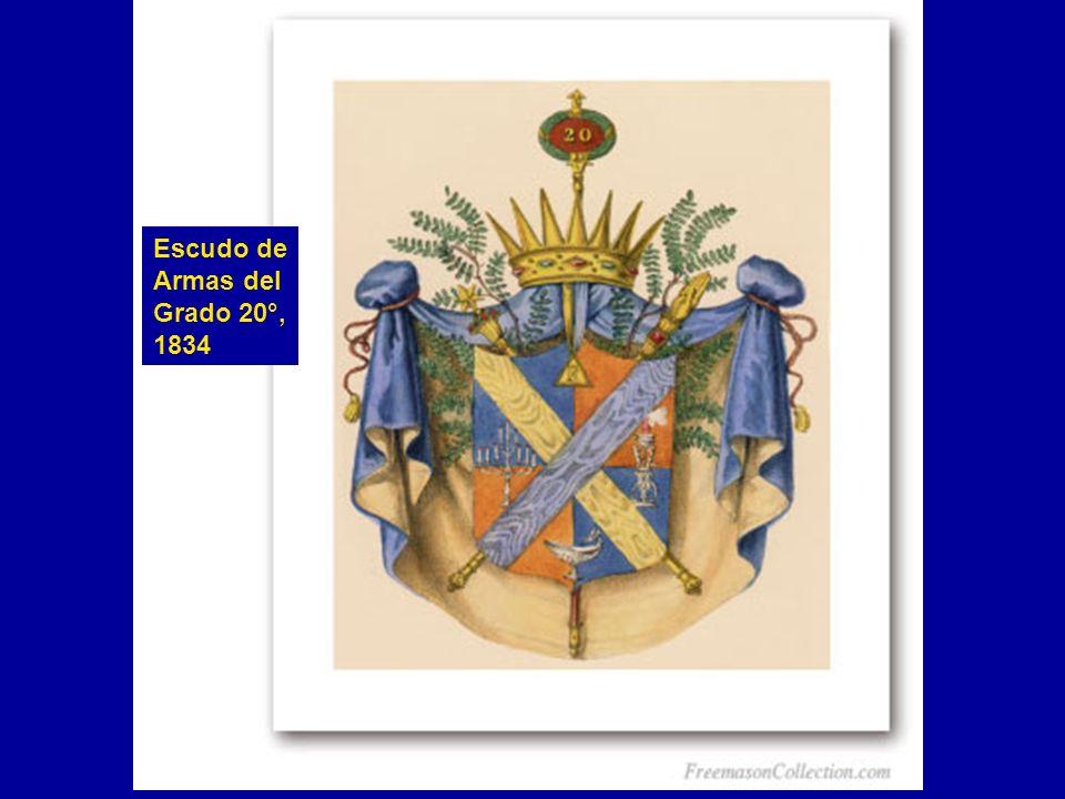 Escudo de Armas del Grado 20°, 1834