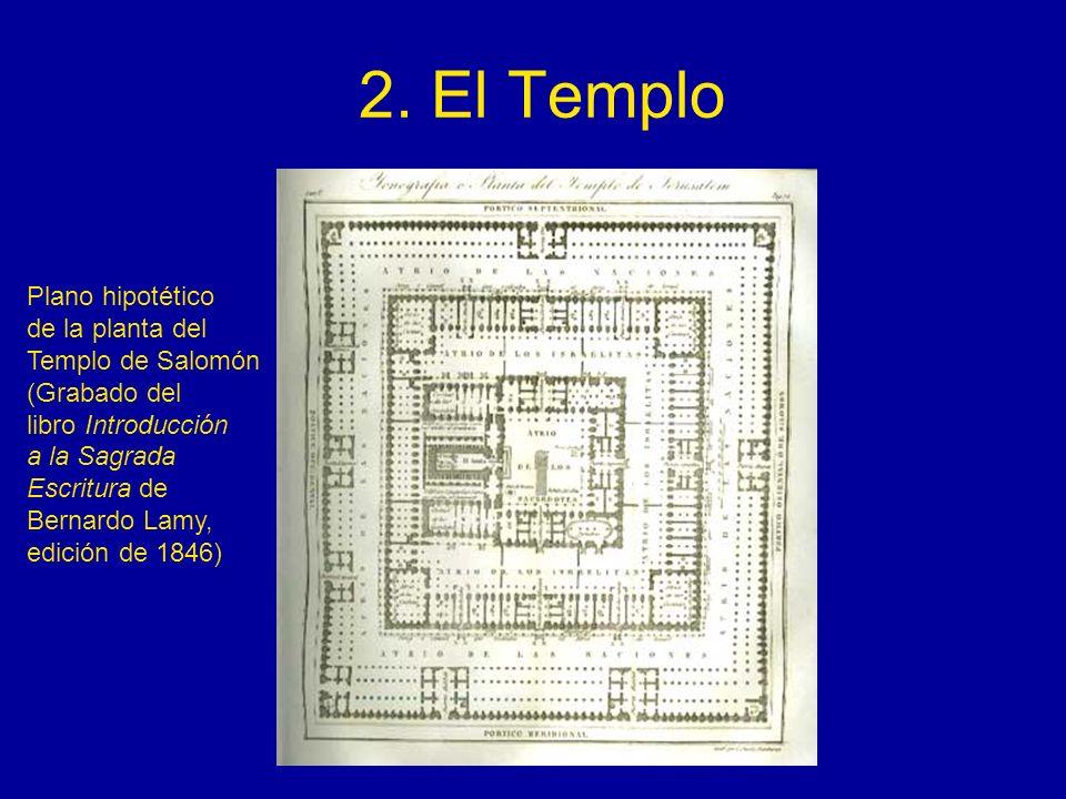 2. El Templo Plano hipotético de la planta del Templo de Salomón