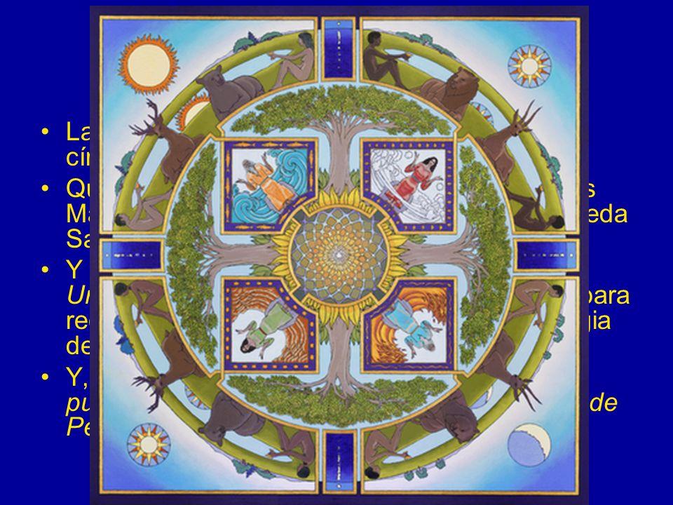 El círculo Las tres columnas estarán rodeadas por un círculo de bronce.
