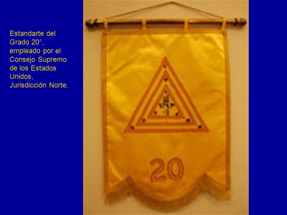 Estandarte del Grado 20°, empleado por el. Consejo Supremo.