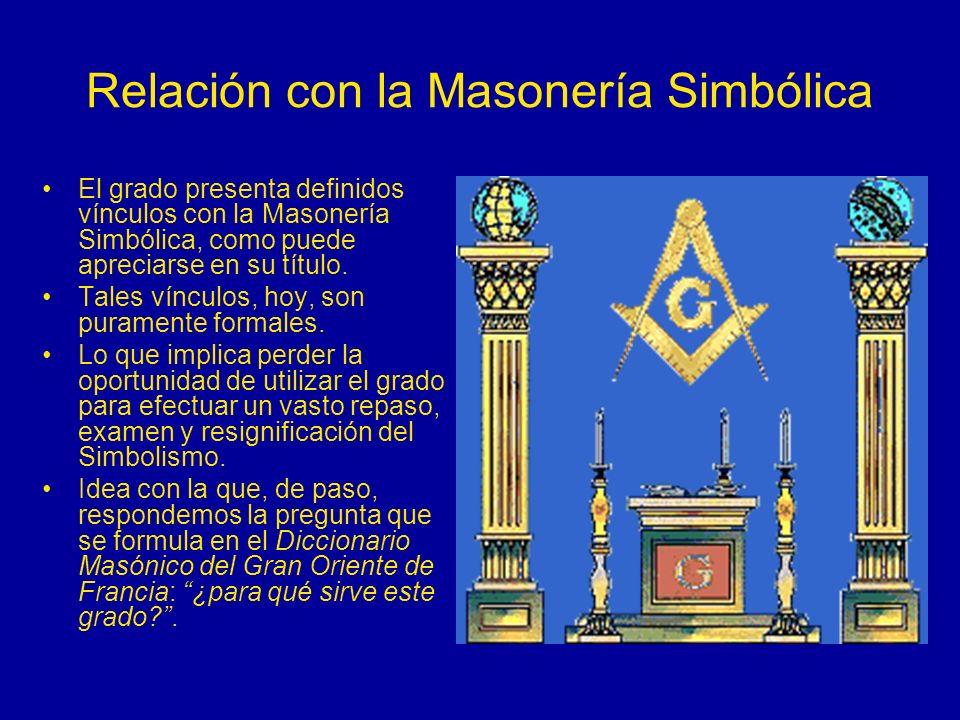 Relación con la Masonería Simbólica