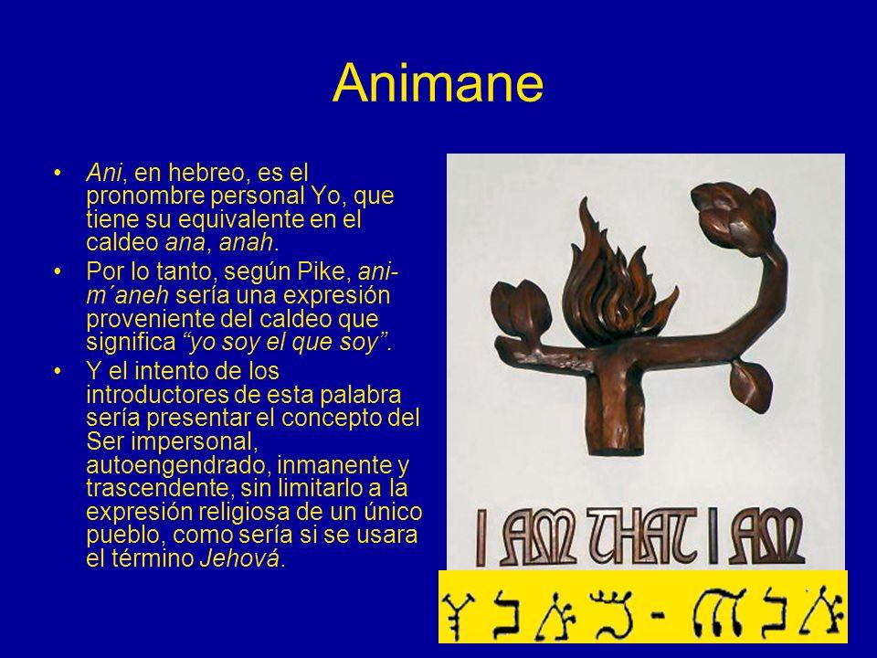 Animane Ani, en hebreo, es el pronombre personal Yo, que tiene su equivalente en el caldeo ana, anah.