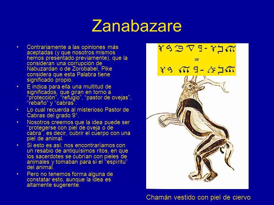 Zanabazare Chamán vestido con piel de ciervo