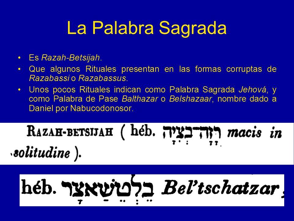 La Palabra Sagrada Es Razah-Betsijah.