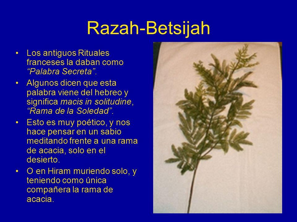 Razah-BetsijahLos antiguos Rituales franceses la daban como Palabra Secreta .