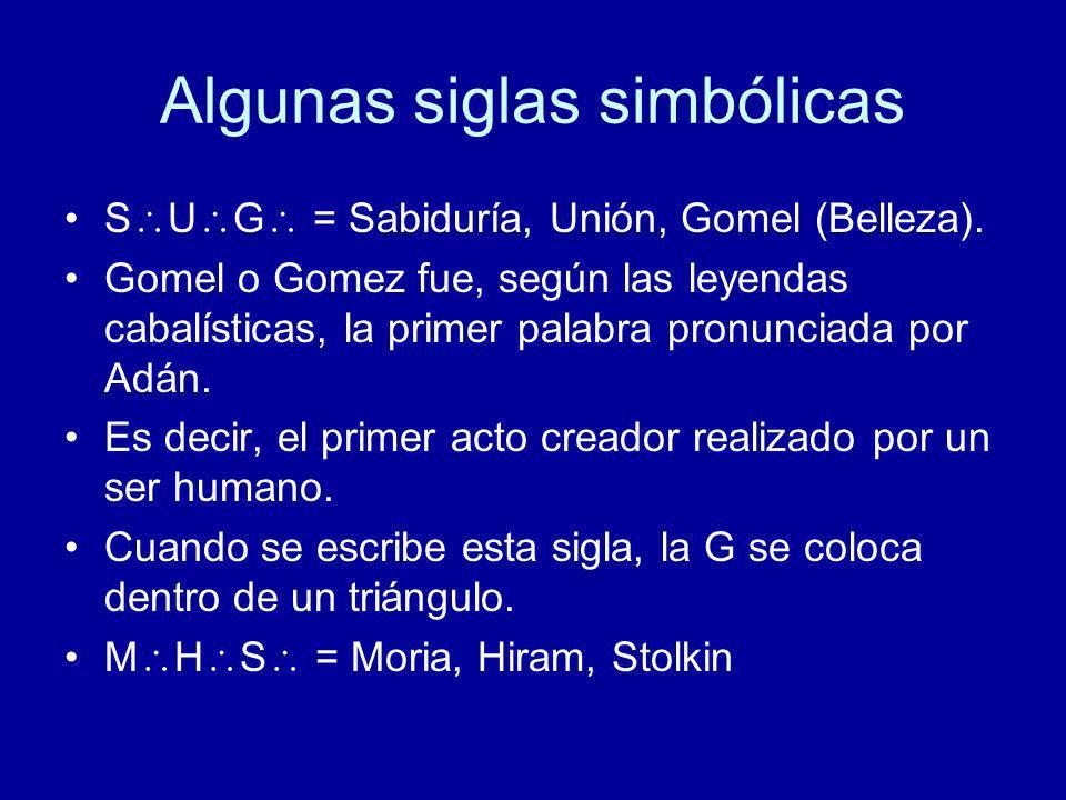 Algunas siglas simbólicas
