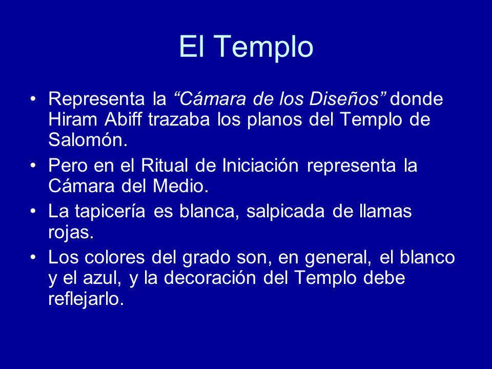 El Templo Representa la Cámara de los Diseños donde Hiram Abiff trazaba los planos del Templo de Salomón.