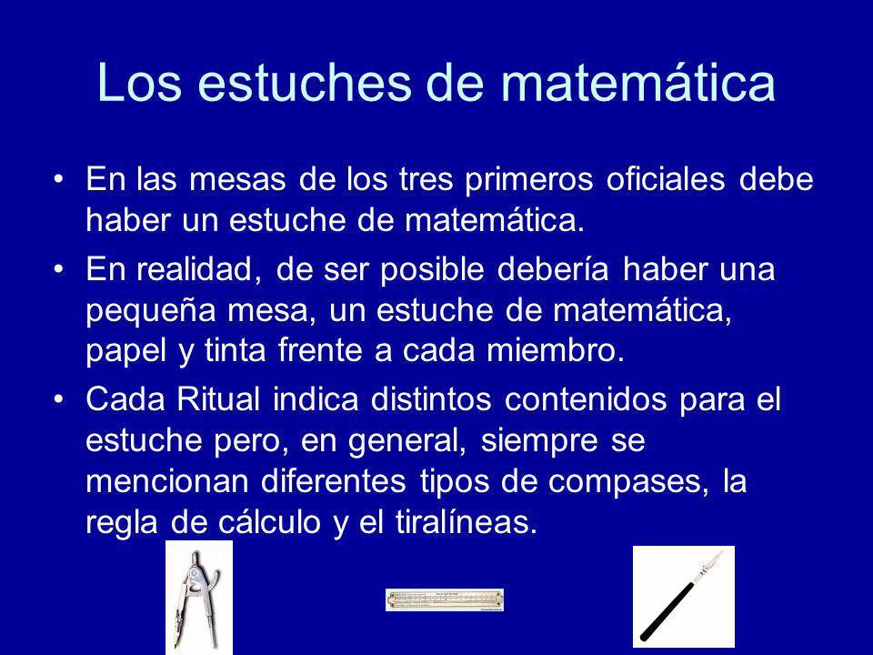 Los estuches de matemática