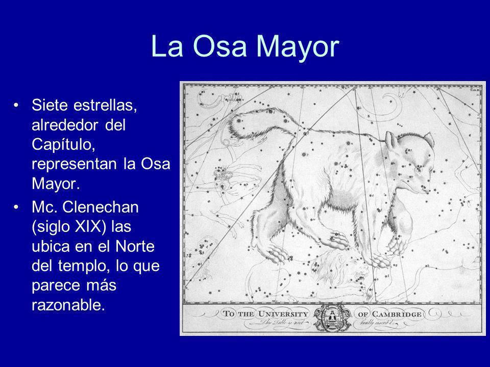 La Osa MayorSiete estrellas, alrededor del Capítulo, representan la Osa Mayor.