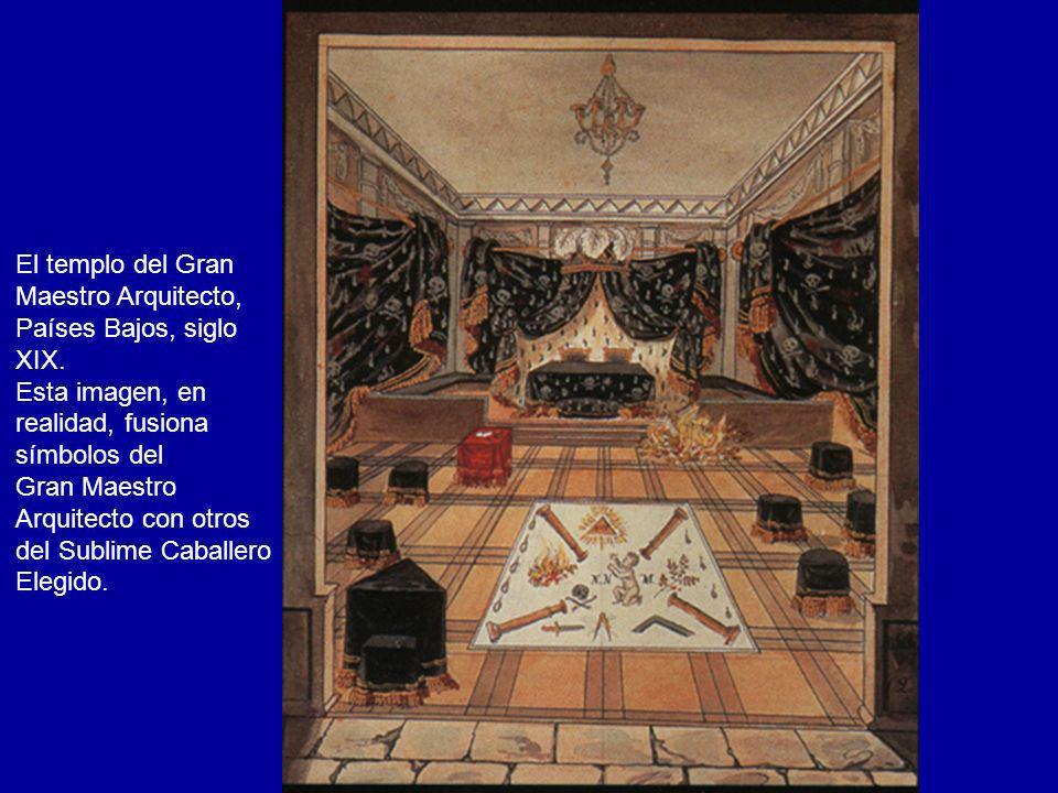 El templo del GranMaestro Arquitecto, Países Bajos, siglo. XIX. Esta imagen, en. realidad, fusiona.