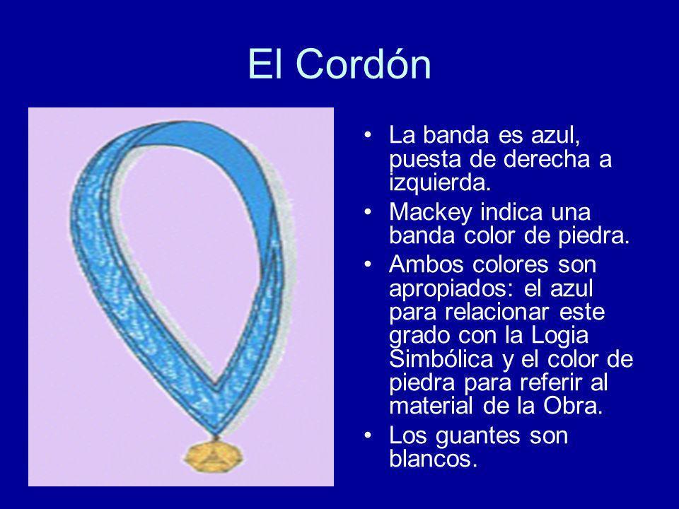 El Cordón La banda es azul, puesta de derecha a izquierda.