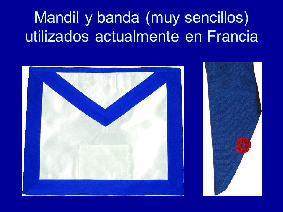 Mandil y banda (muy sencillos) utilizados actualmente en Francia