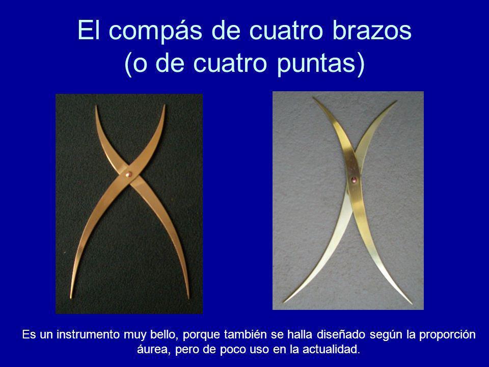 El compás de cuatro brazos (o de cuatro puntas)