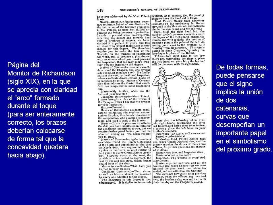 Página del Monitor de Richardson. (siglo XIX), en la que. se aprecia con claridad. el arco formado.