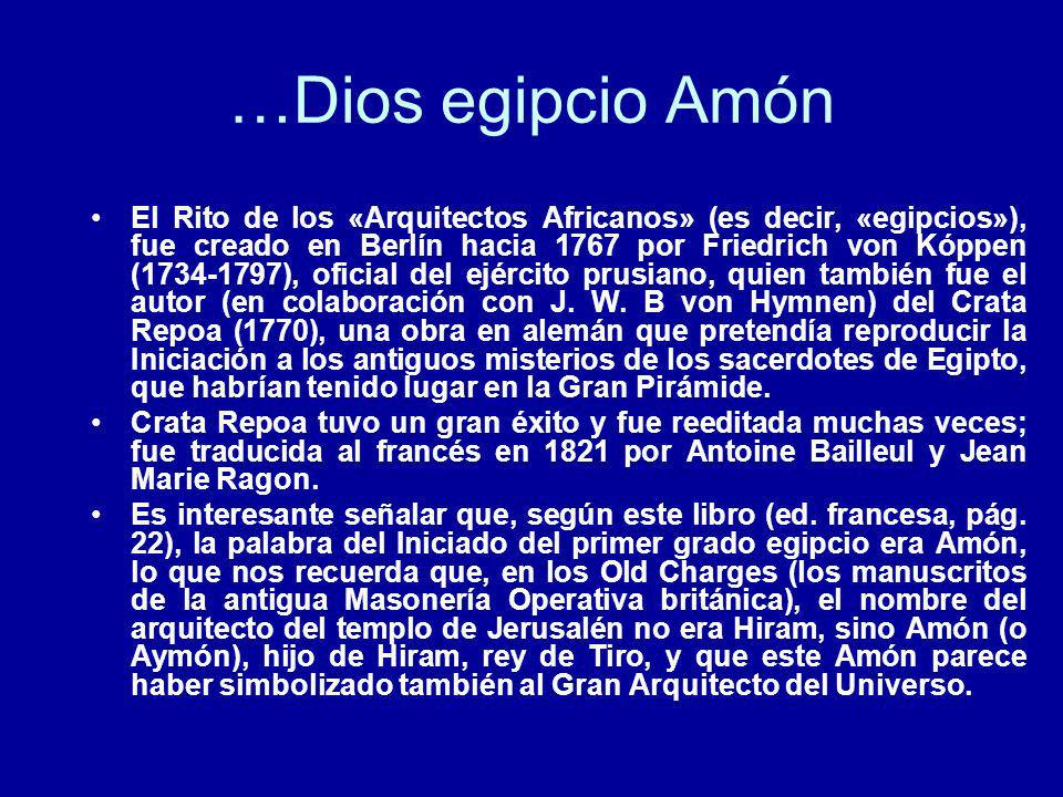 …Dios egipcio Amón