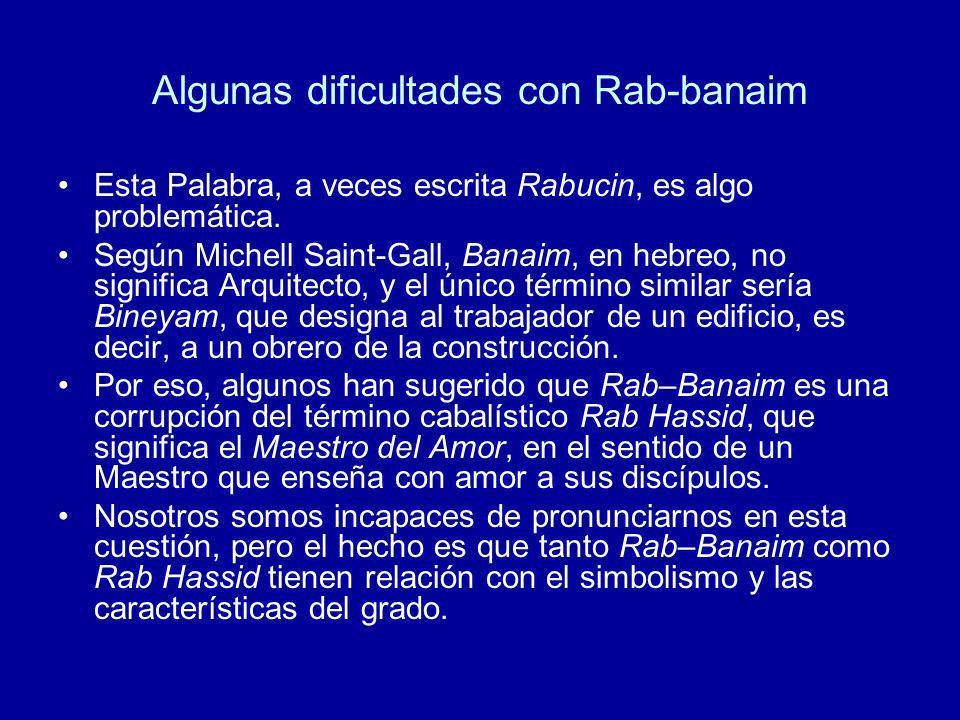 Algunas dificultades con Rab-banaim
