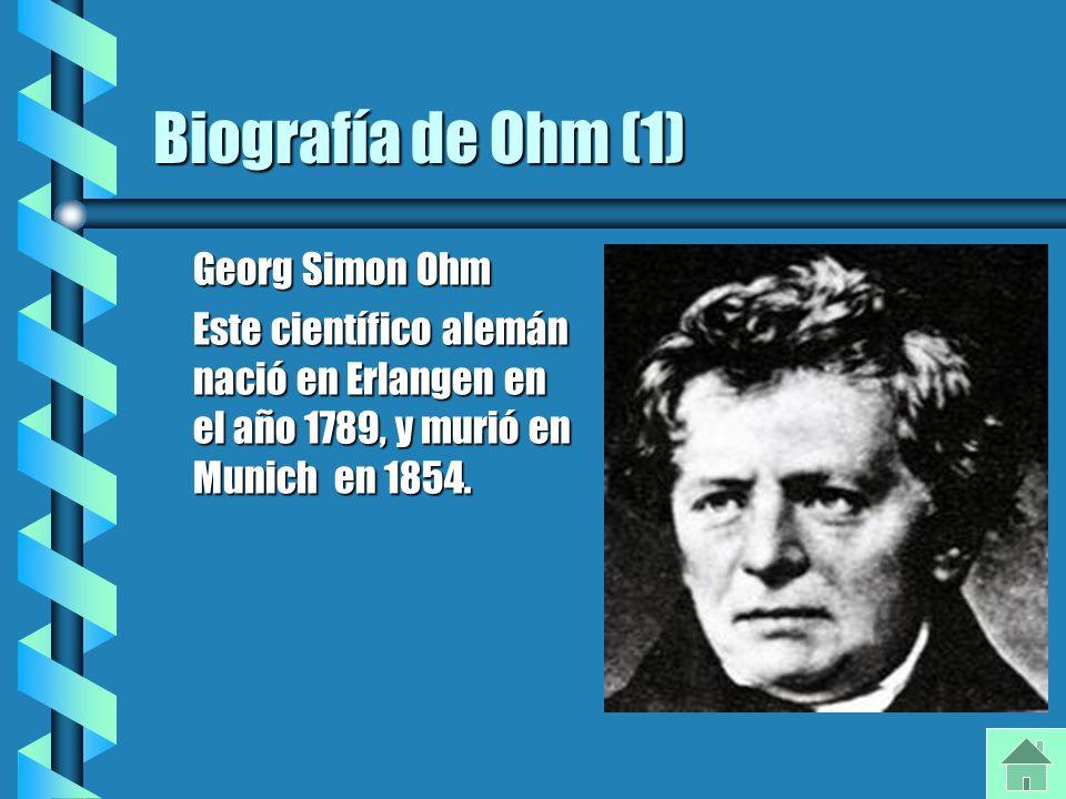 Biografía de Ohm (1) Georg Simon Ohm