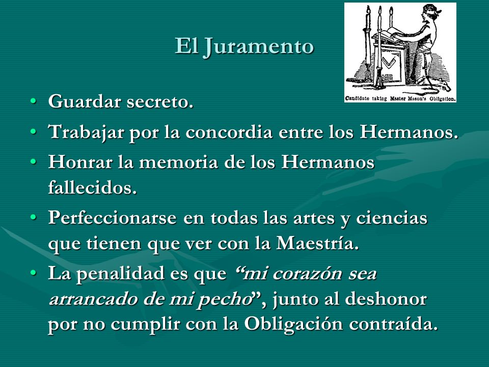 El Juramento Guardar secreto.
