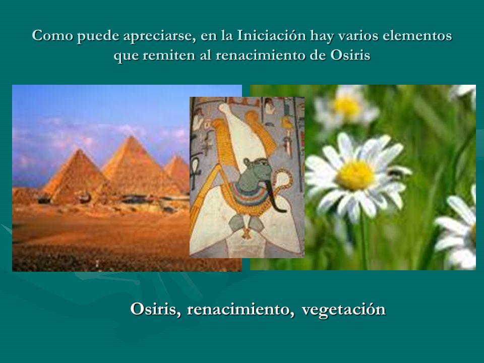 Osiris, renacimiento, vegetación