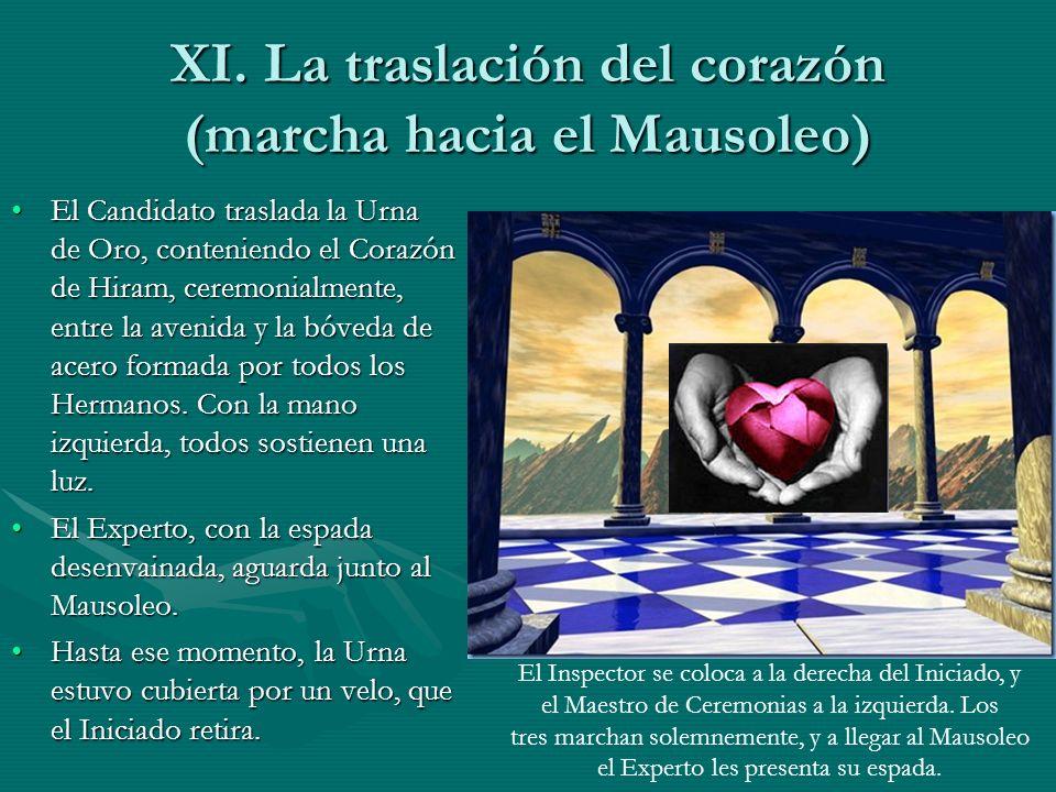XI. La traslación del corazón (marcha hacia el Mausoleo)