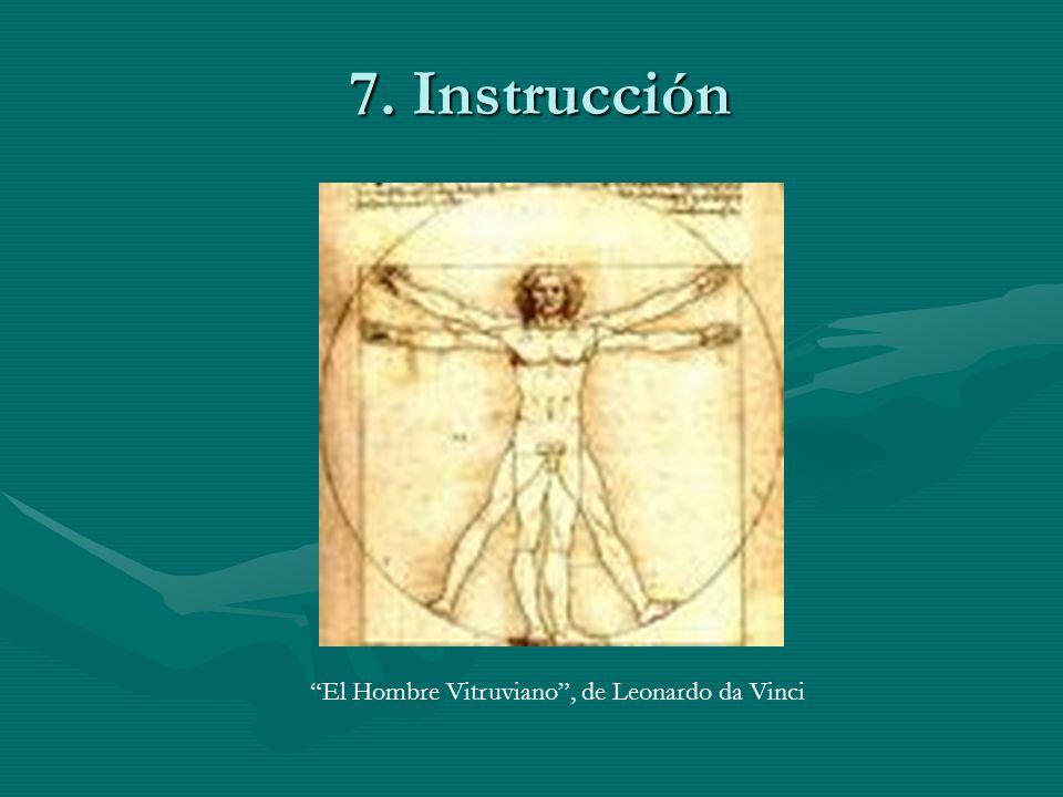 7. Instrucción El Hombre Vitruviano , de Leonardo da Vinci
