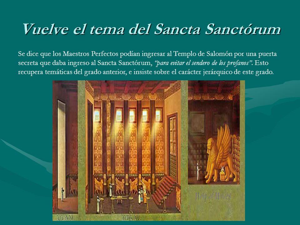 Vuelve el tema del Sancta Sanctórum
