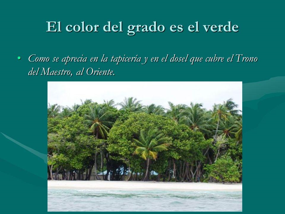 El color del grado es el verde