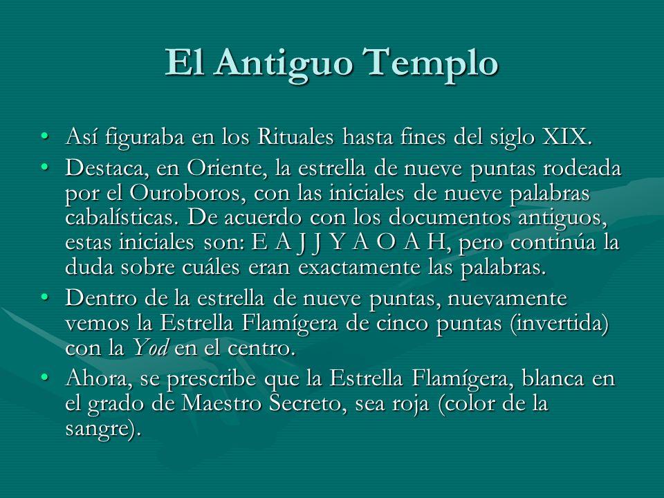 El Antiguo Templo Así figuraba en los Rituales hasta fines del siglo XIX.