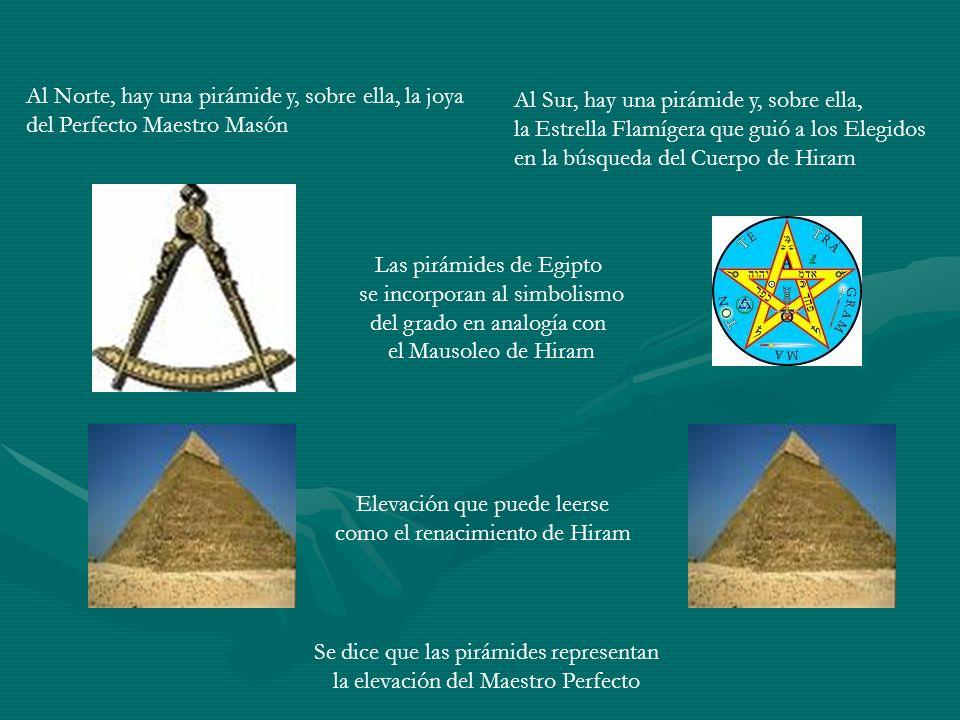 Al Norte, hay una pirámide y, sobre ella, la joya