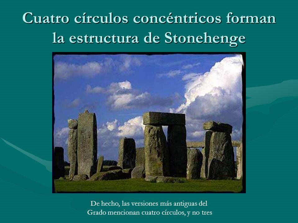 Cuatro círculos concéntricos forman la estructura de Stonehenge