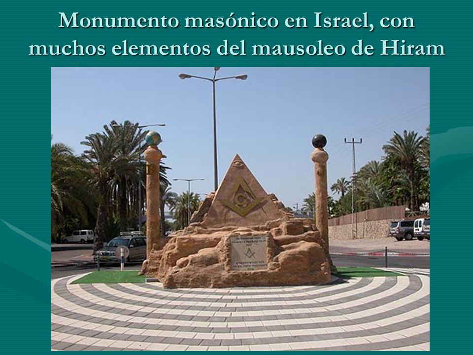 Monumento masónico en Israel, con muchos elementos del mausoleo de Hiram