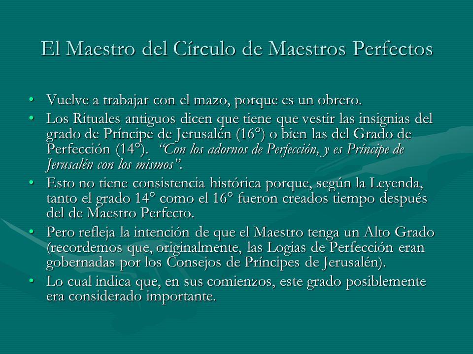 El Maestro del Círculo de Maestros Perfectos