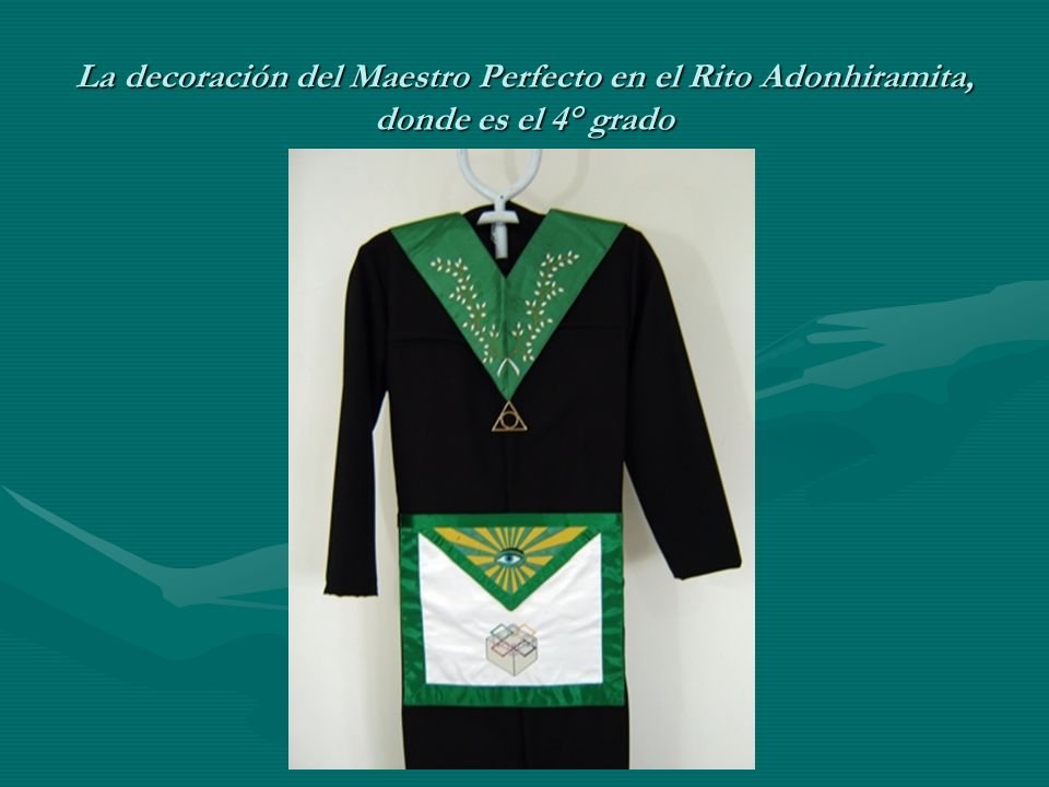 La decoración del Maestro Perfecto en el Rito Adonhiramita, donde es el 4° grado